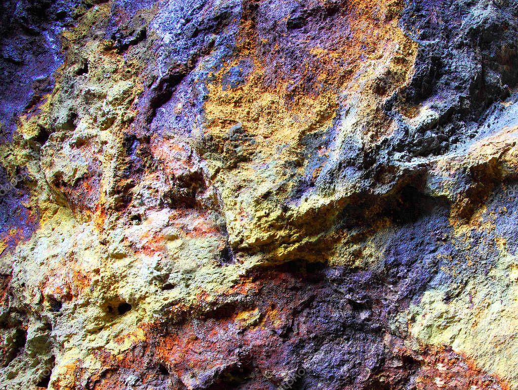 Metallic ore in underground mine near Bodenmais in Bavaria, Germany