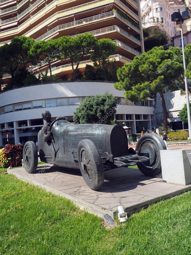 editorial sculpture of race car and driver Monte Carlo Monaco ...