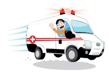 Funny ambulance driver