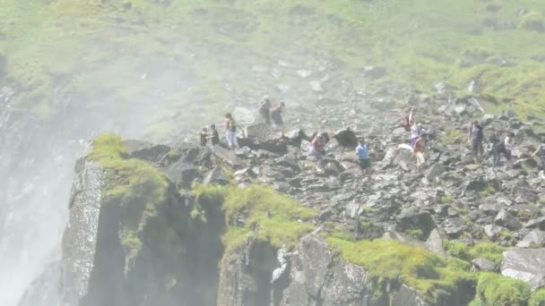 timelapse- People visiting the Krimml Waterfalls as part of High Tauern National Park. The Krimml Waterfalls has a total height of 380 meters.