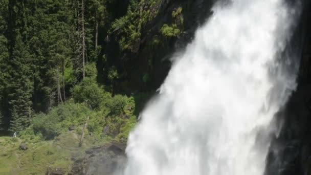 Krimmelské vodopády. Nachází v Krimmler Achental - Krimml Achen údolí v Rakousku