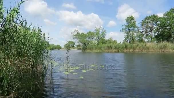 Havel river landscape at summer time. (Havelland, Germany).
