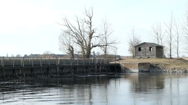 old needle weir at havel river in havelland (Germany).