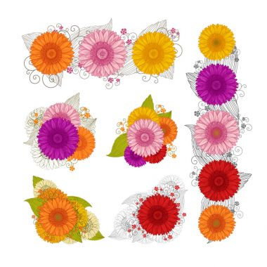 Summer background with Gerbera