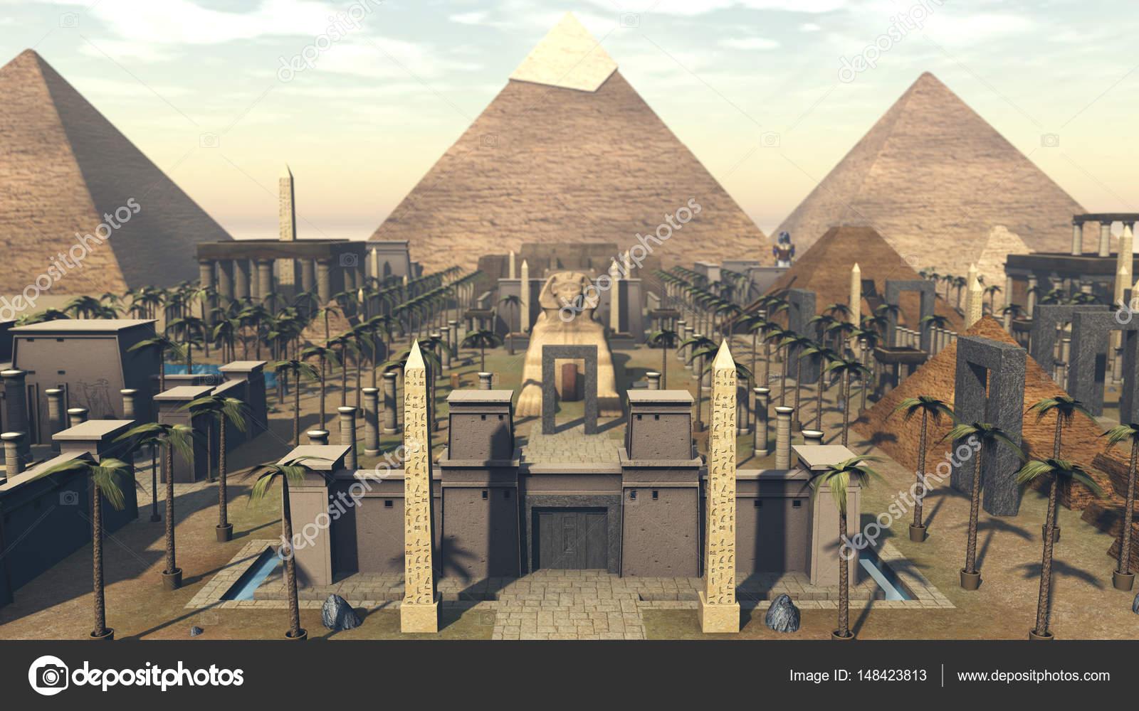 Arquitectura antigua en la ciudad de egipto foto de for Arquitectura de egipto