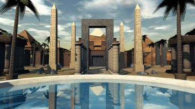 oasis and architecture of Ancient Egypt