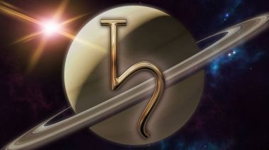 Saturn zodiac horoscope symbol