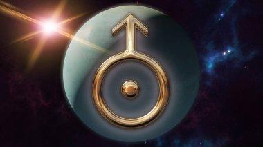 Uranus zodiac horoscope symbol