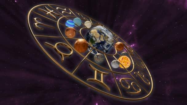 horoskop zvěrokruhu rotující planeta glóby