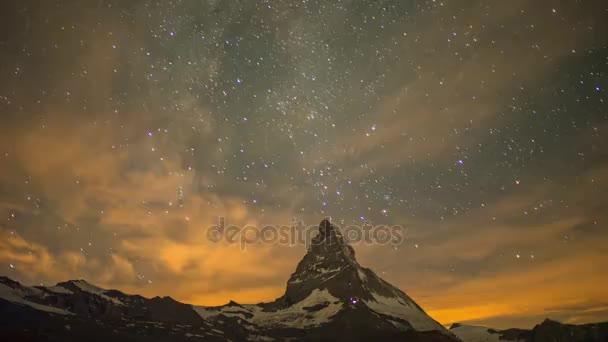 noční sunrise časová prodleva hory