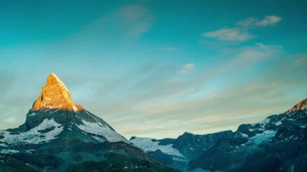sunrise time lapse of the amazing mountain
