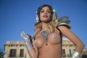 Silber Göttin Disco Frau
