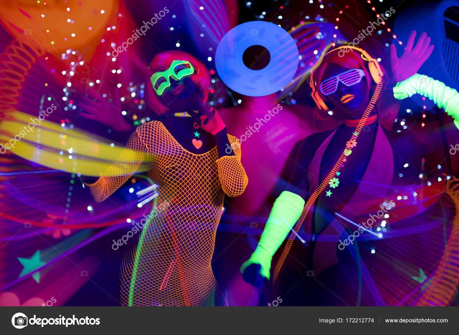 Glow uv Neon Disco-party — Stockfoto © dubassy #172212774