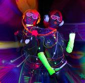 Fényképek fény uv neon szexi disco női cyber baba