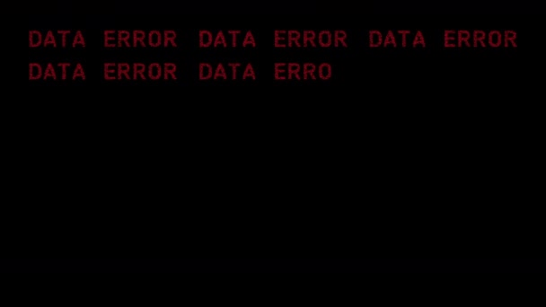 data error repeating with each letter made from number sequences with glitch effect