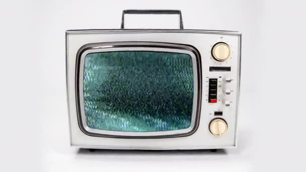 Oldtimer-Fernsehen mit unterschiedlichen Pannen-Effekten auf Video