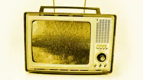 vintage televízió különböző hibahatásokkal videó