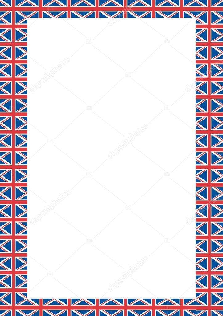 Diseño de frontera de Union Jack — Foto de stock © jamesstar #127656974