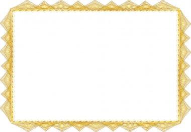 Blank certificate illustration white