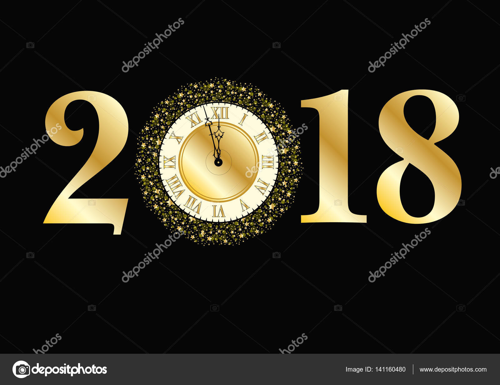 concept de nouvel an 2018 photographie jamesstar 141160480. Black Bedroom Furniture Sets. Home Design Ideas