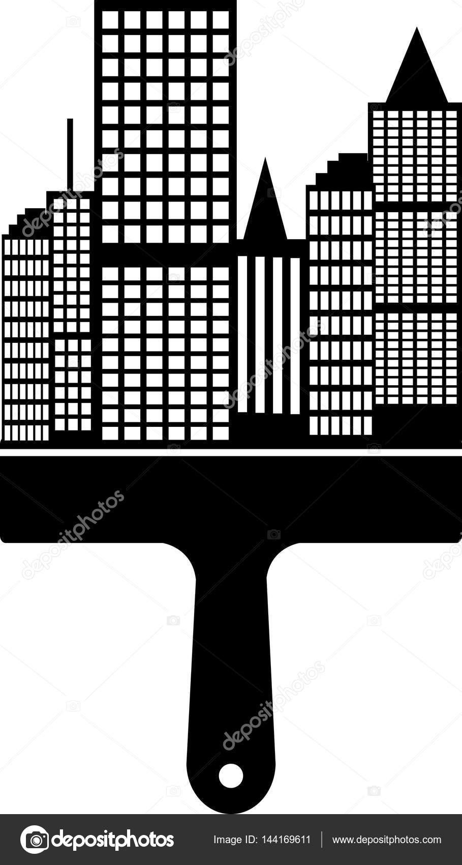 City Scape Boya Fırçası Stok Foto Jamesstar 144169611
