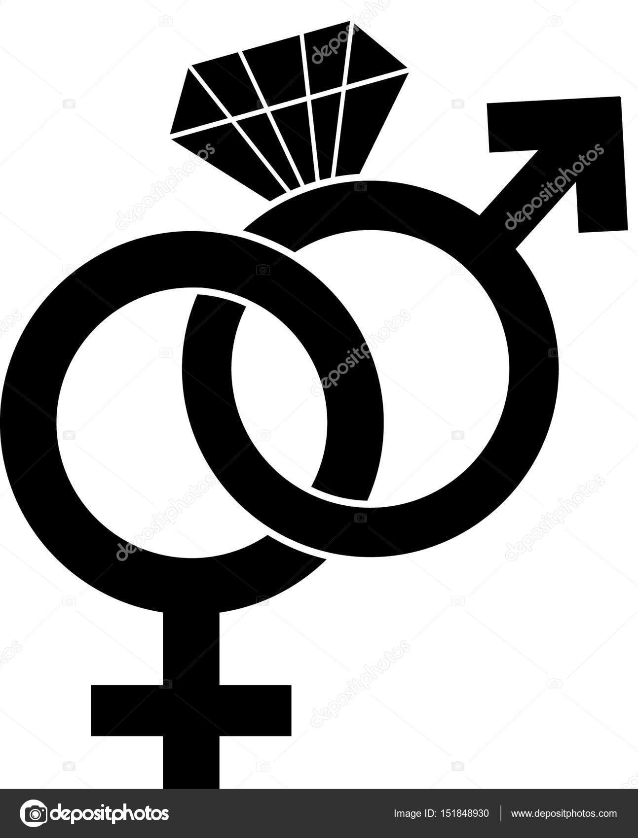 3fa16503b9bbb símbolo de homem e mulher — Fotografias de Stock © jamesstar  151848930