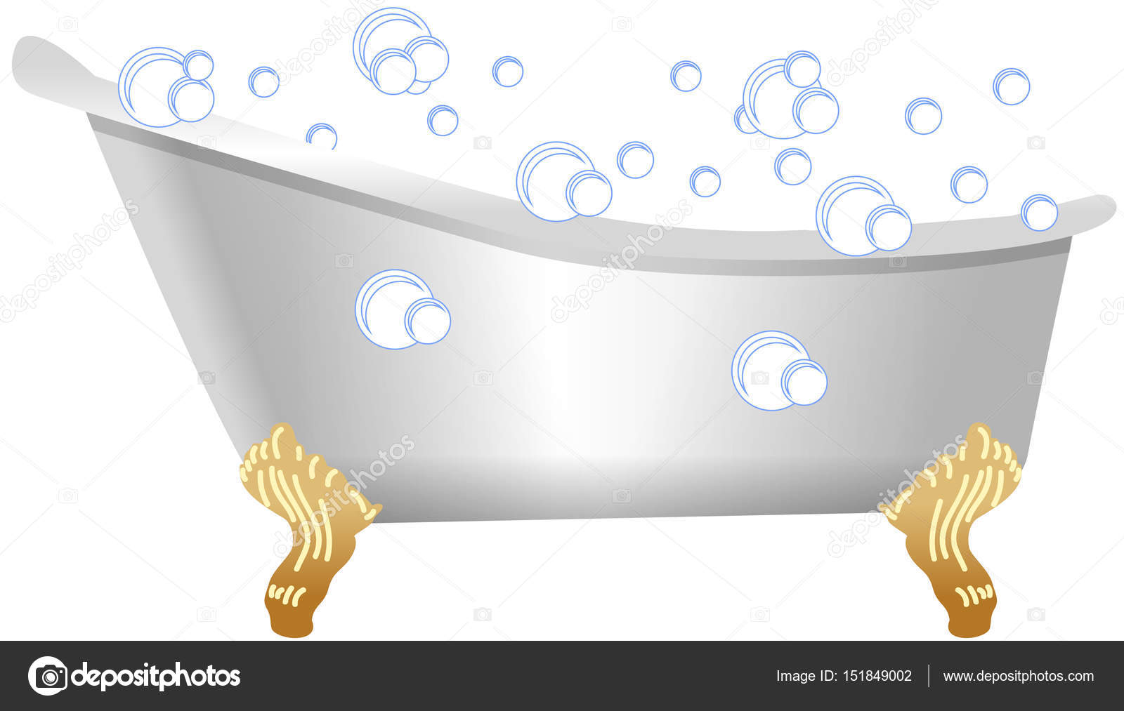 Old Fashioned Bath With Bubbles U2014 Stock Photo