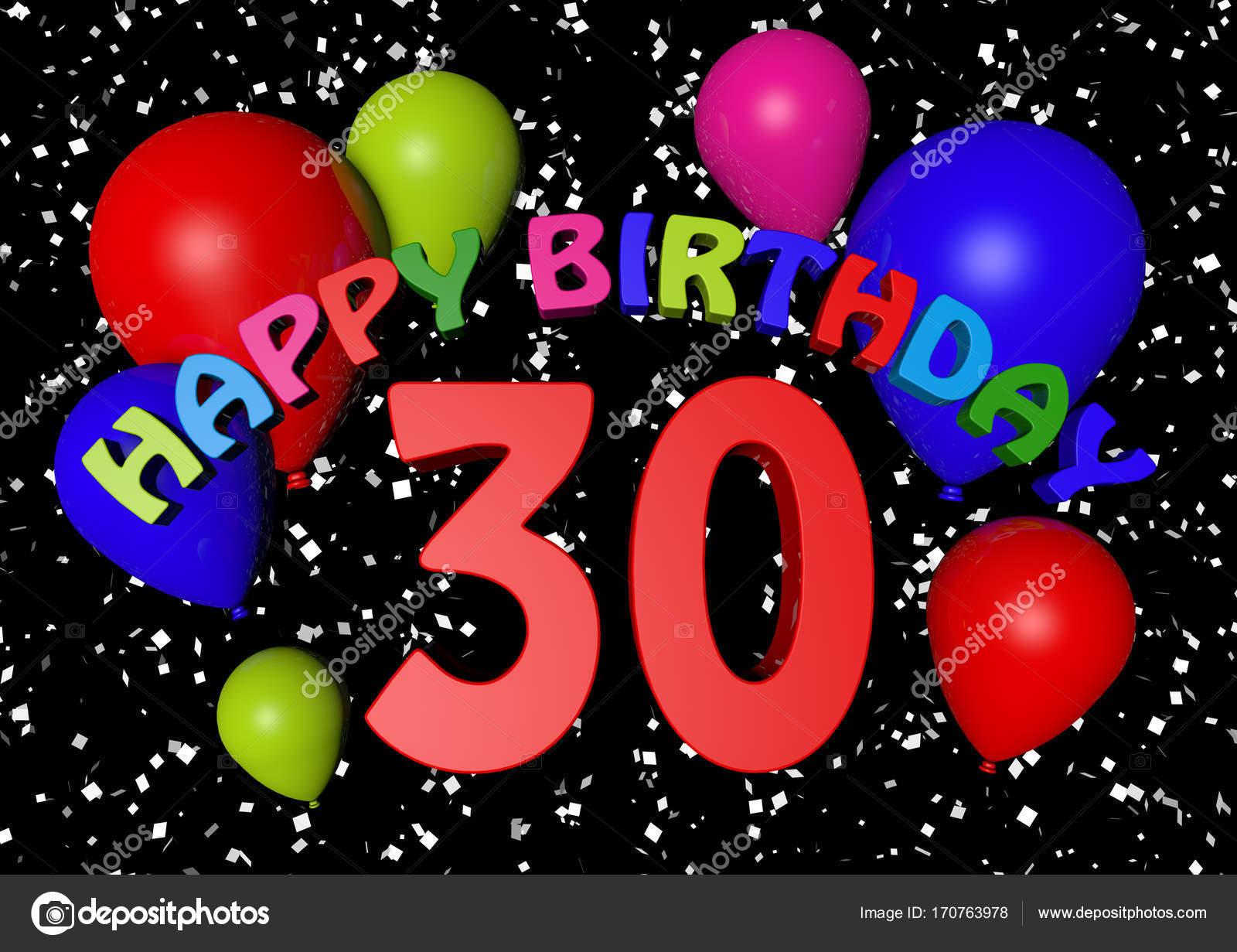 jarig 30 30 jarig bestaan met ballonnen — Stockfoto © jamesstar #170763978 jarig 30