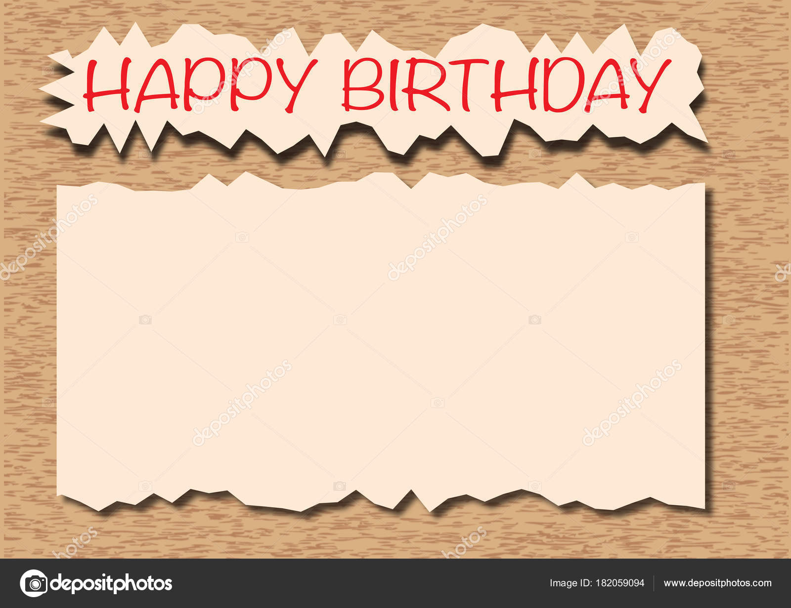 Happy Birthday Card Background Stock Photo Jamesstar 182059094