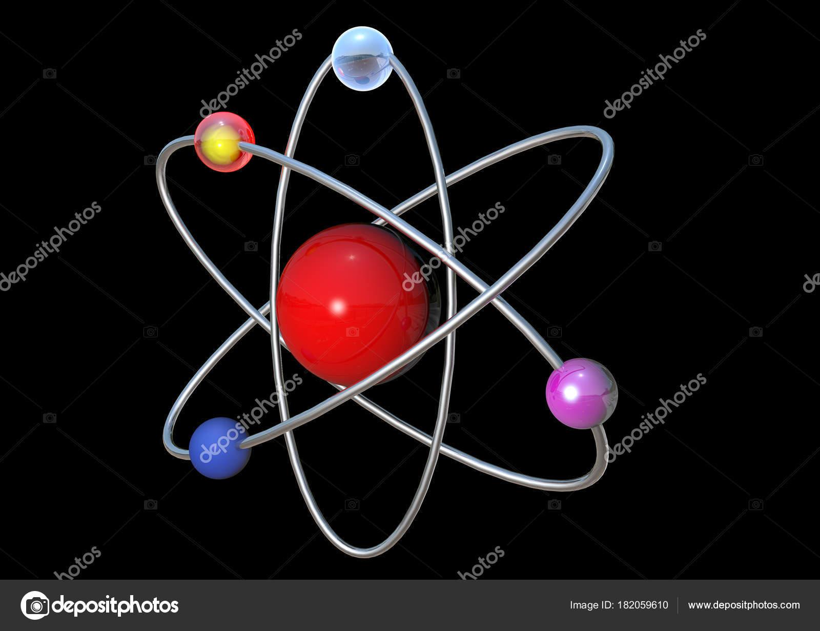 Imágenes Electrones Protones Molécula Rojo Ciencia Blanco