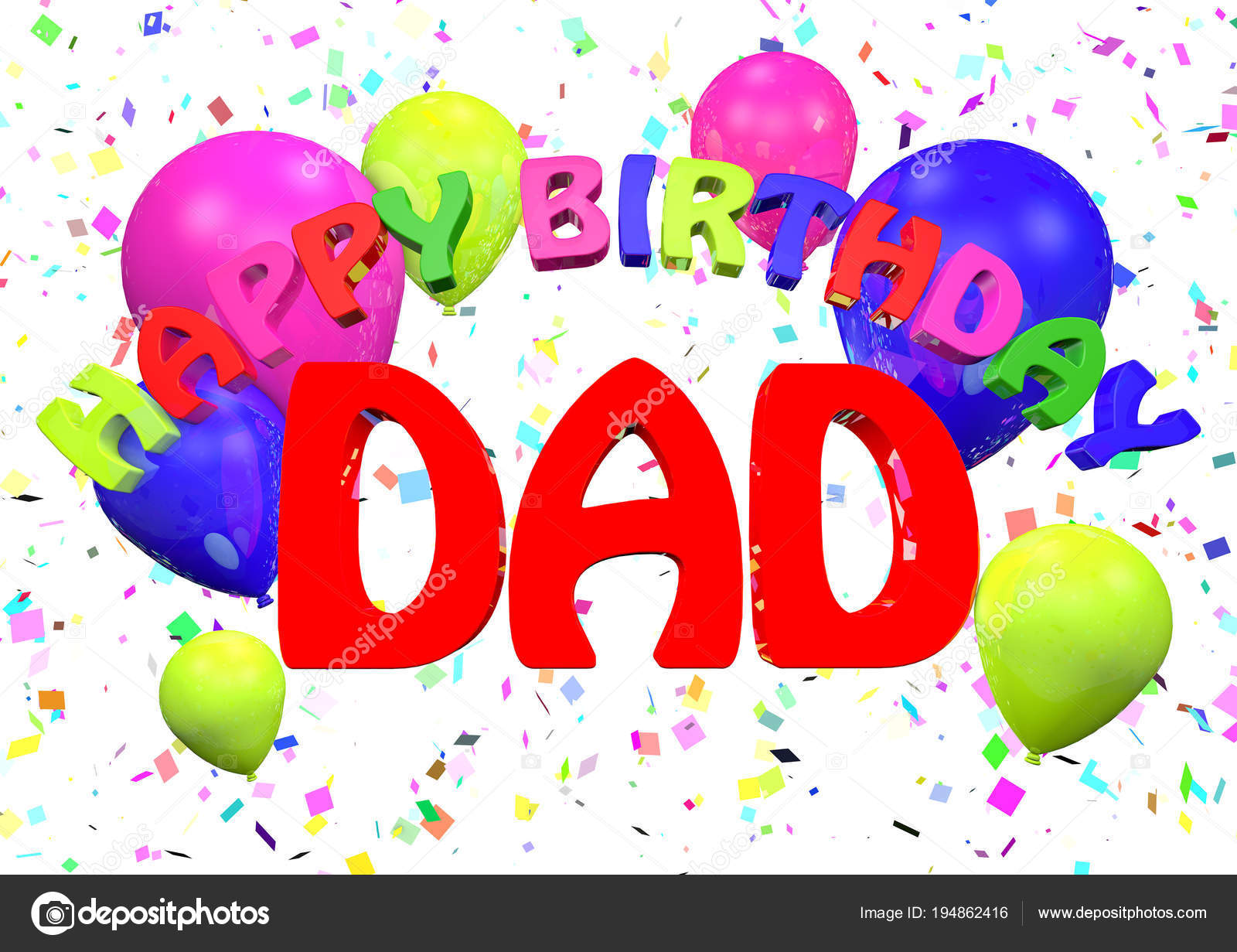Alles Gute Zum Geburtstag Papa Stockfoto C Jamesstar 194862416