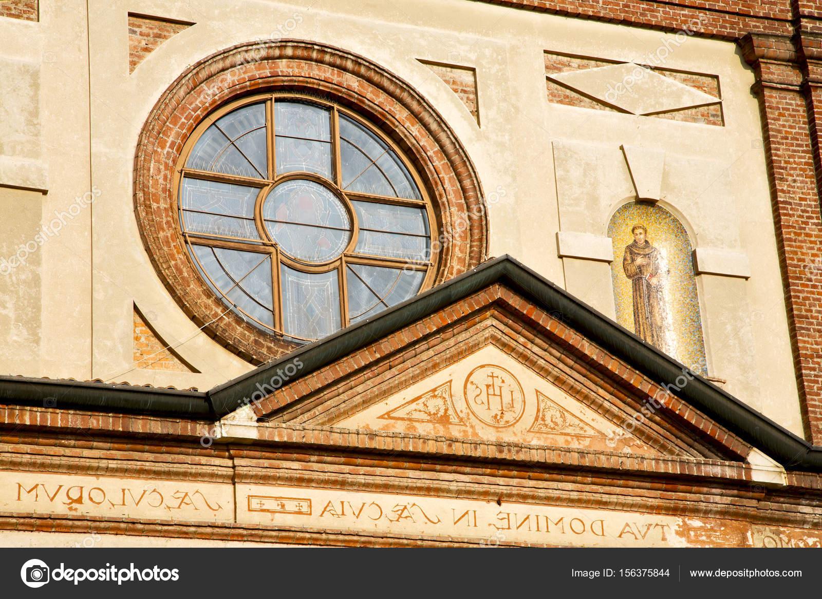 Rosone italia lombardia il parabiago vecchia piastrelle u2014 foto stock