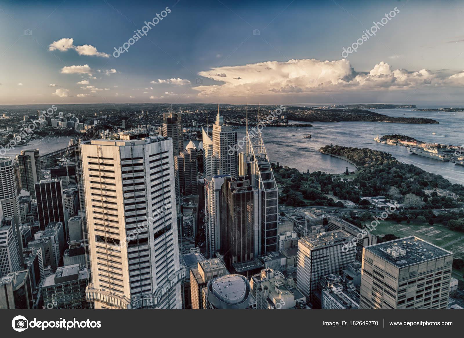 Australia Sydney View Tower Eye Skyscraper Hous — Stock Photo