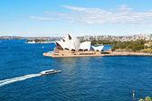 Fotografie AUSTRALIA,SYDNEY-CIRCA  AUGUST 2017-opera house and the boat