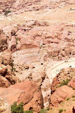 antique site of petra in jordan monastery