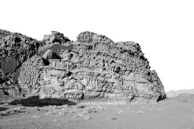 in the wadi rum desert of jordan  sand and mountain  adventure destinatio