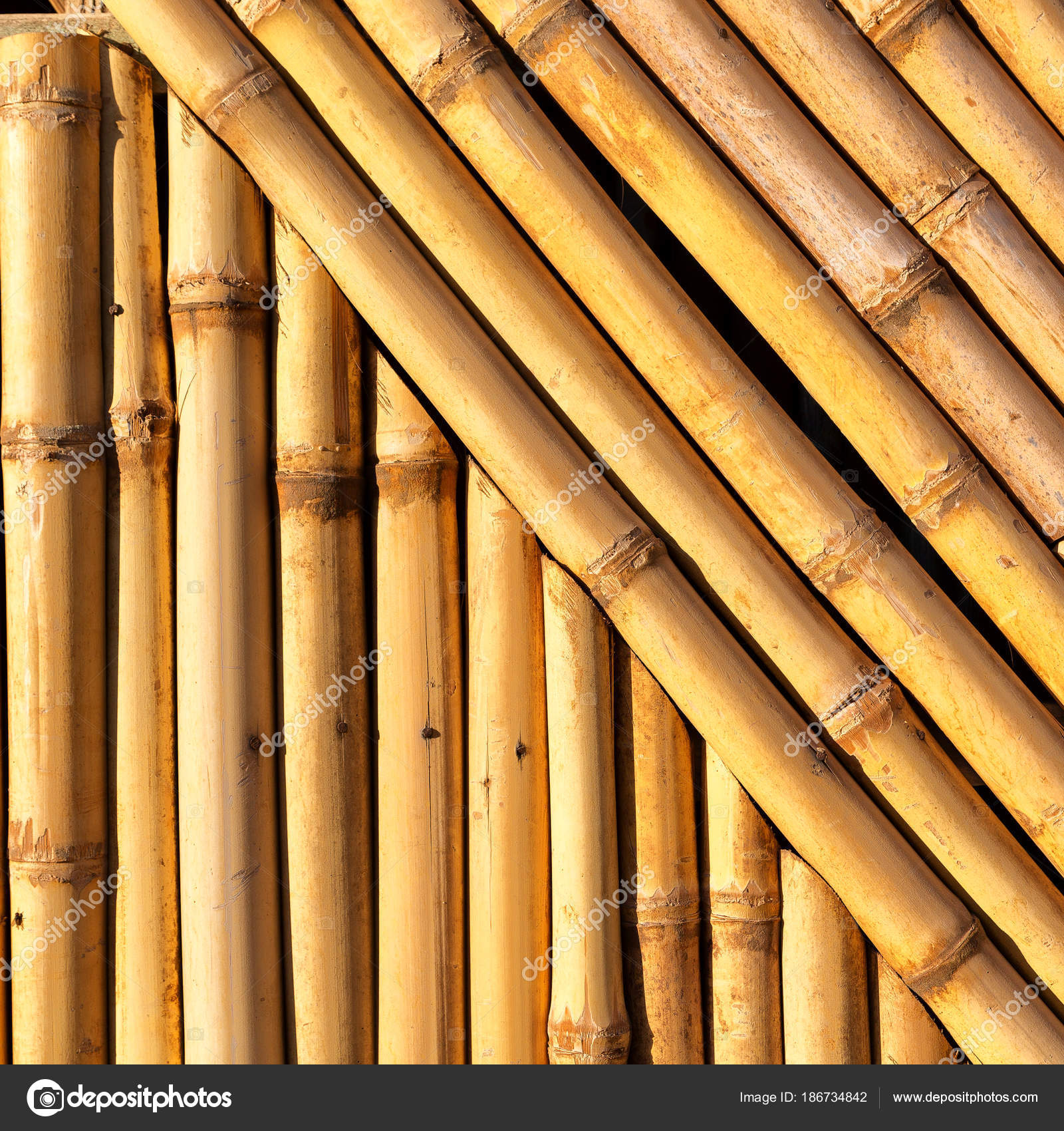abstract texture background of the bamboo wall — Stock Photo © lkpro ...
