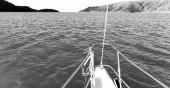 v Austrálii člun a světlo v katamarán paluba koncepce sportu a relaxaci
