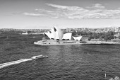 in  australia  sydney opera house the bay  and the skyline of the cit