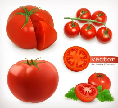 Tomatoes icons set