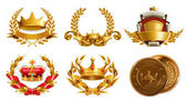 Fotografie Gold crowns and wreathes