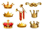 Gold crowns of king