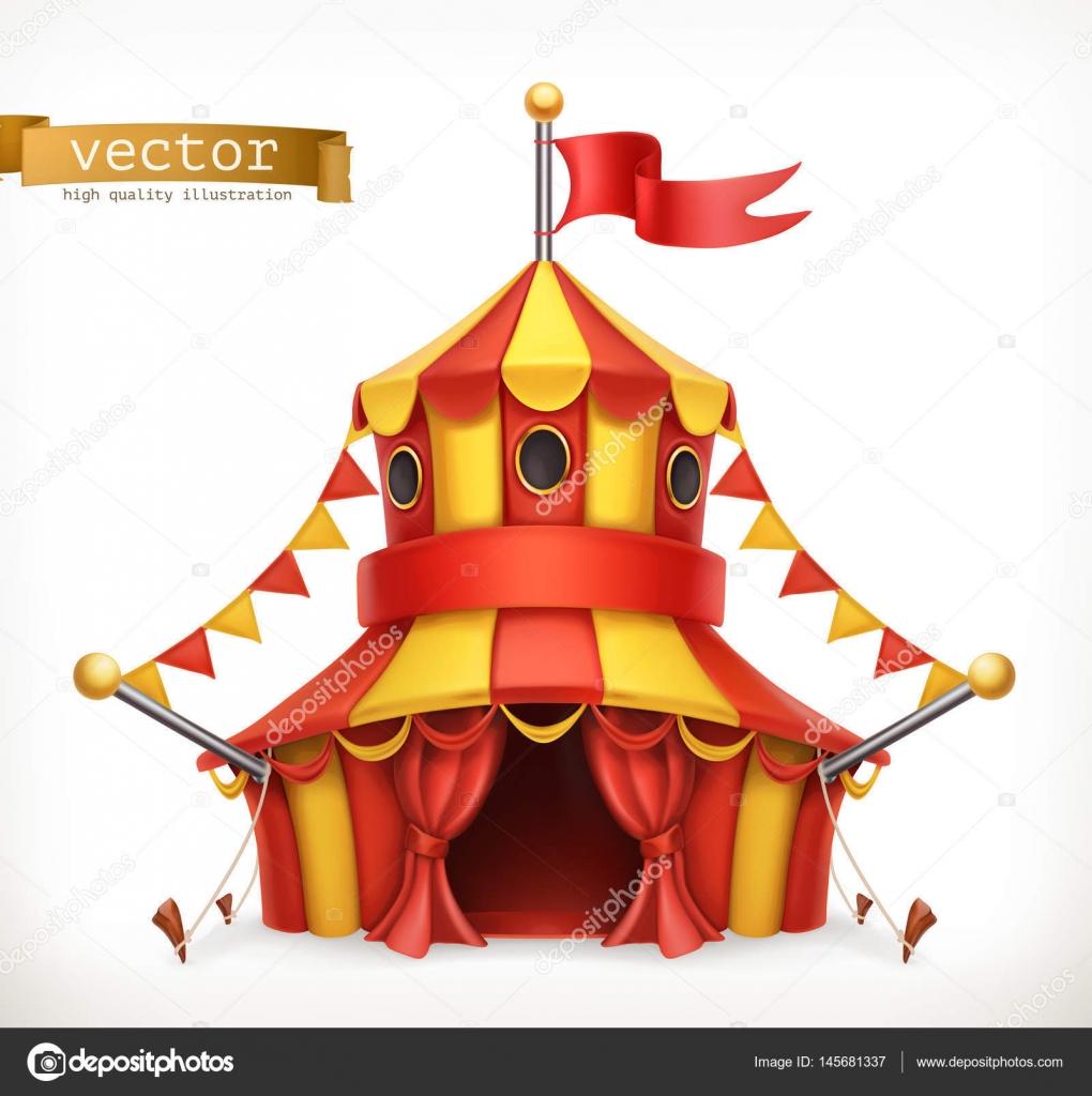 Circus tent. 3d vector icon — Stock Vector © natis76 ...