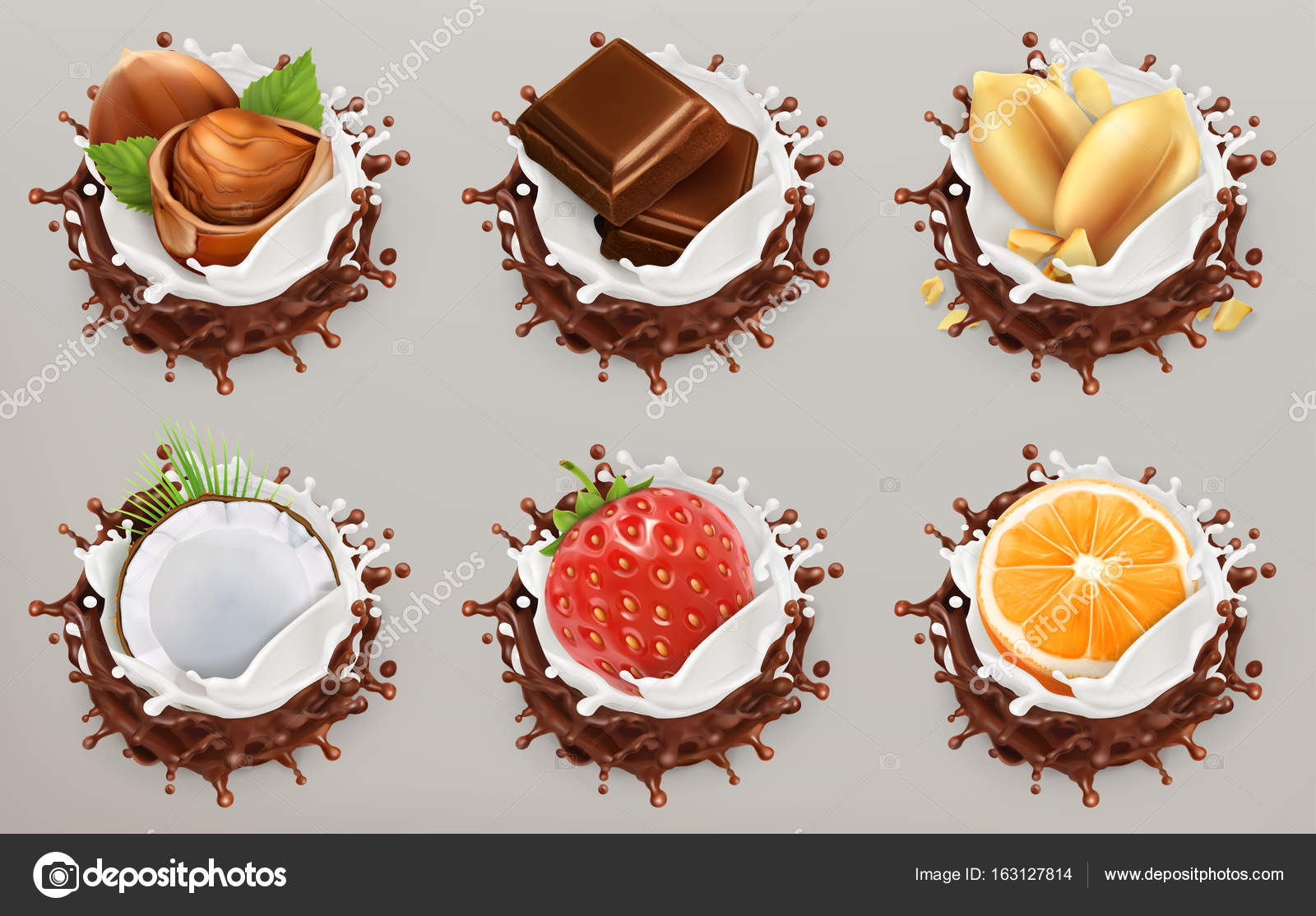 ᐈ chocolate splash stock vectors royalty free chocolate splash illustrations download on depositphotos https depositphotos com 163127814 stock illustration fruit berries and nuts milk html