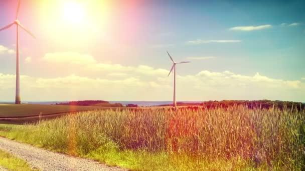 Venkovská krajina s větrné turbíny