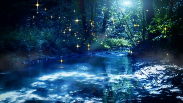 víla potoku a světlušky na měsíc noc
