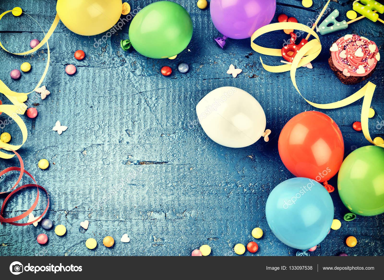 Colorful birthday frame — Stock Photo © paulgrecaud #133097538