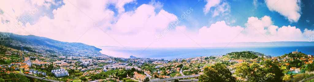 view of Funchal, Madeira island