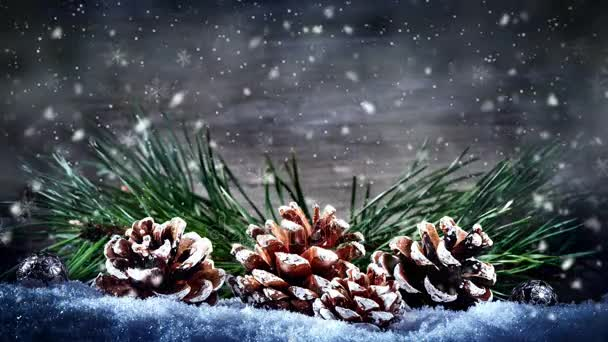 Vánoční bezešvé smyčka s padající sníh