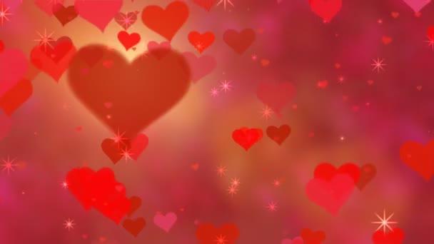 Červená srdce téma
